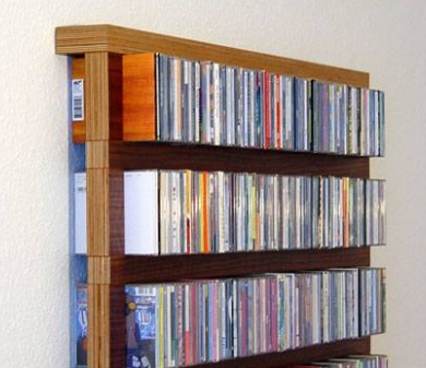 CD shelf, minimum depth