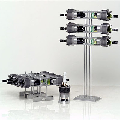 wine racks from Porsche parts