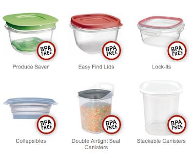 BPA free plastic storage