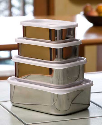 rectangular stainless steel food containers