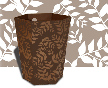 wastebasket made fro recycled cardboard
