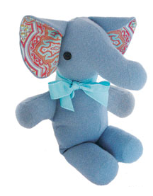 stuffed elephant made from old cashmere sweater