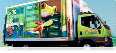 frogbox.com van - plastic moving boxes