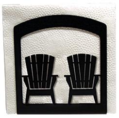 Wrought Iron Adirondack Chairs Napkin Holder