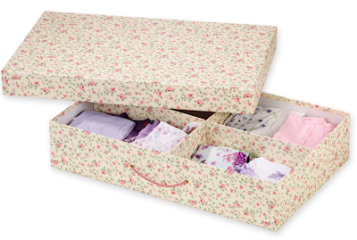 floral underbed storage box