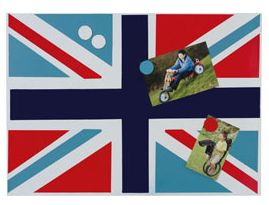 Union Jack magnetic board