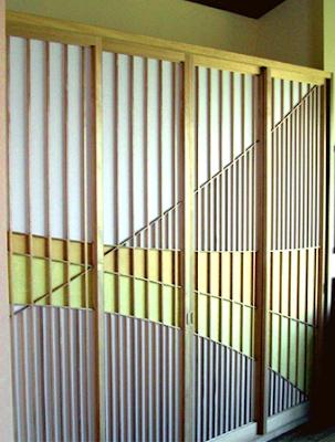 shoji sliding closet door - unusual design