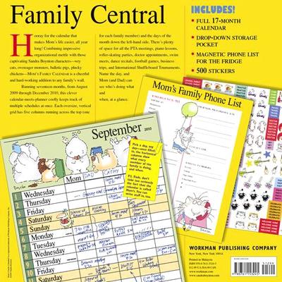 Sandra Boyton Mom's Family Calendar - back