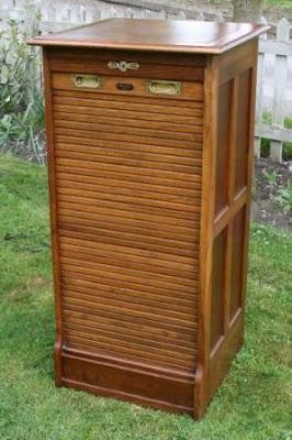 tambour door file cabinet