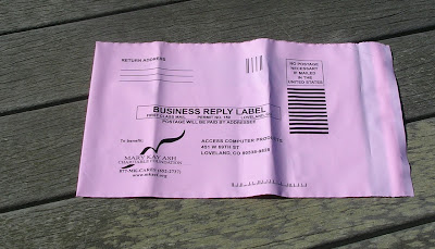 Mary Kay mail in recycle bags