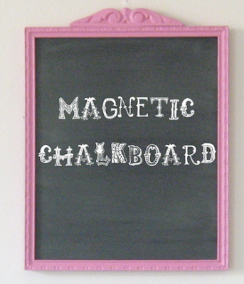 framed magnetic chalkboard