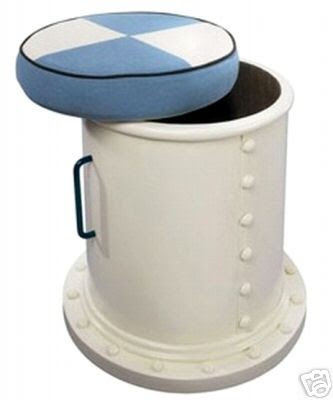 nautical storage stool