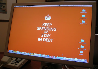 Keep Spending and Stay In Debt computer wallpaper