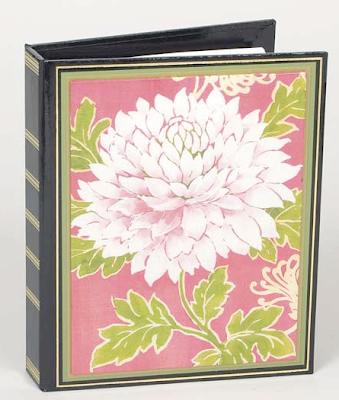 address book with flower