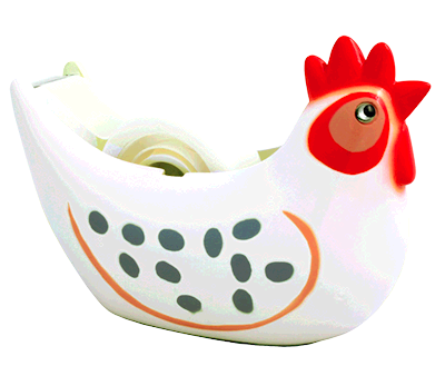 chicken tape dispenser