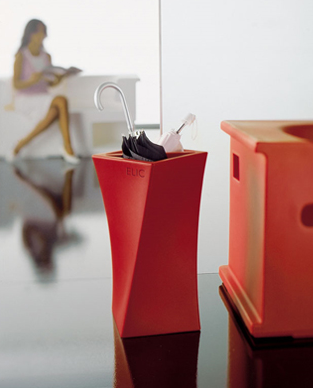 red umbrella stand