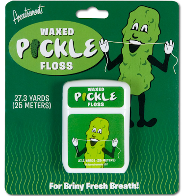 pickle-flavored floss