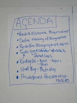 meeting agenda written on whiteboard