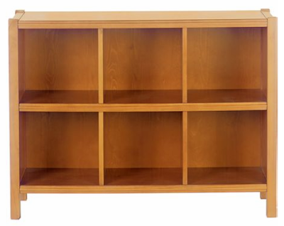 6-cube low bookcase