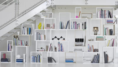modular shelf storage, white