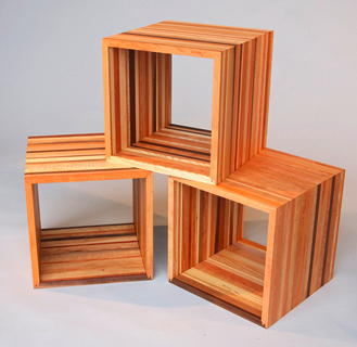 wood cubes shelving