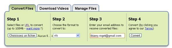 conversion de fichier pdf en excel