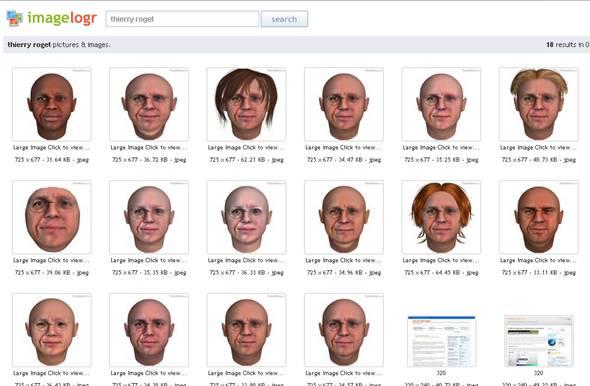 recherche de portrait sur internet