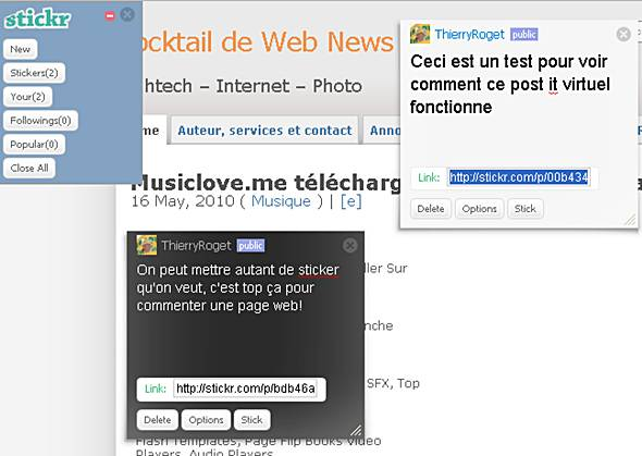 comment mettre un post-it sur internet
