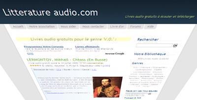 Livre audio sur internet