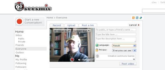 microvideoblogging seesmic