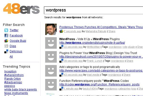 moteur de recherche temps réel