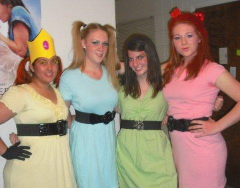 Powerpuff costumes adult girls