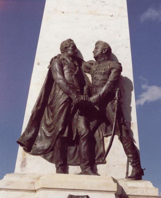 """Bolívar y Morillo """"Abrazo de Santa Ana, Trujillo"""