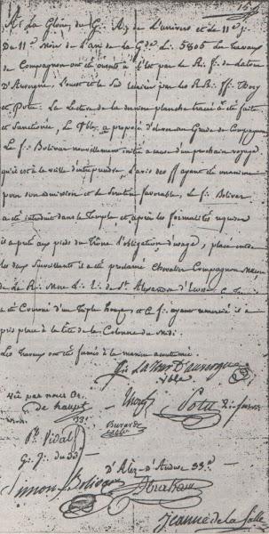 Bolívar recibe el segundo grado
