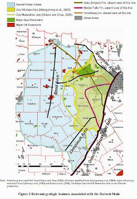 Barnett Shale Maps Barnett Shale Geology