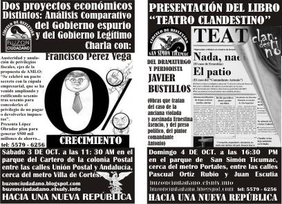 EN LOS CÍRCULOS DE REFLEXIÓN, ANÁLISIS Y PARTICIPACIÓN,  DEL COLECTIVO BUZÓN CIUDADANO