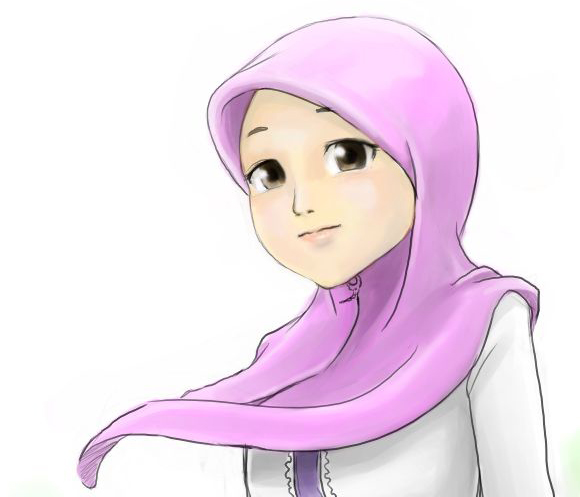 free anime wallpapers: wallpaper muslimah kartun