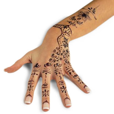 Henna Tattoos Home on Feminine Tattoo Henna For Forearm