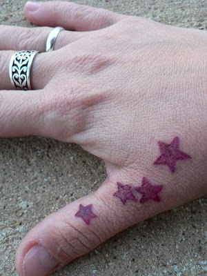 Label: Hand Tattoo, Tattoos For Girls Simple Nautical Star Tattoo. back
