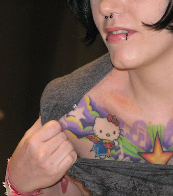 READ MORE - girls chest tattoos with WEIRD tattoos