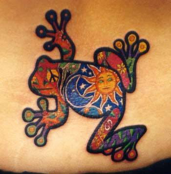 Frog tattoos are as varied and different as the many species of frogs that