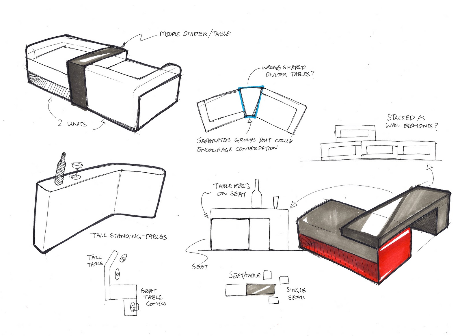 Design for thought for Furniture design sketches