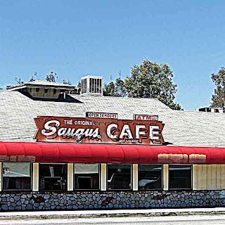 Saugus Cafe outside shot California