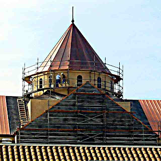 steeple under construction Pasadena California
