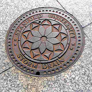 Stanford University Storm Drain Cover (c) David Ocker
