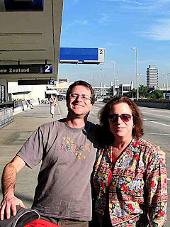 Sammy & Leslie Outside Terminal Two (c) David Ocker