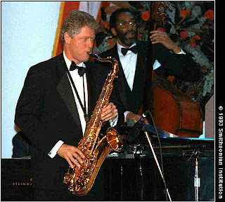 Bill Clinton plays Tenor - so cool in shades