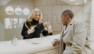 Zaphod Beeblebrox Galactic President and Ford Prefect drink a Pan Galactic Gargleblaster