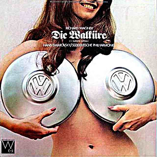 Westminster Gold album Die Walkure by Wagner - naked woman with VW hubcaps
