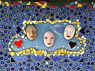 three faces FotoBuster mosaic kiosk Altadena CA